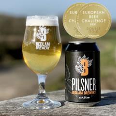 Bedlam Pilsner Double Gold Winner